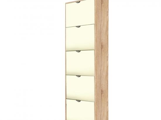 Botník 5 výklopů se zrcadlem dub