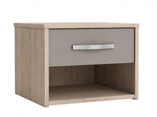 Noční stolek GRAPHIC dub/béžová