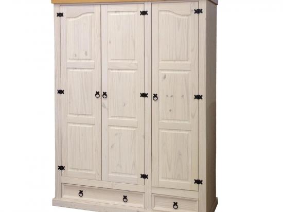 Skříň 3dveřová CORONA bílý vosk 162818B