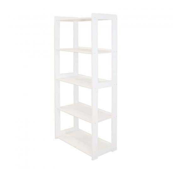 Knihovna STYL 5 polic bílý lak