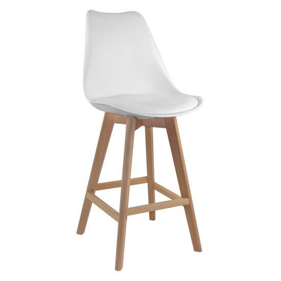 Barová židle QUATRO bílá
