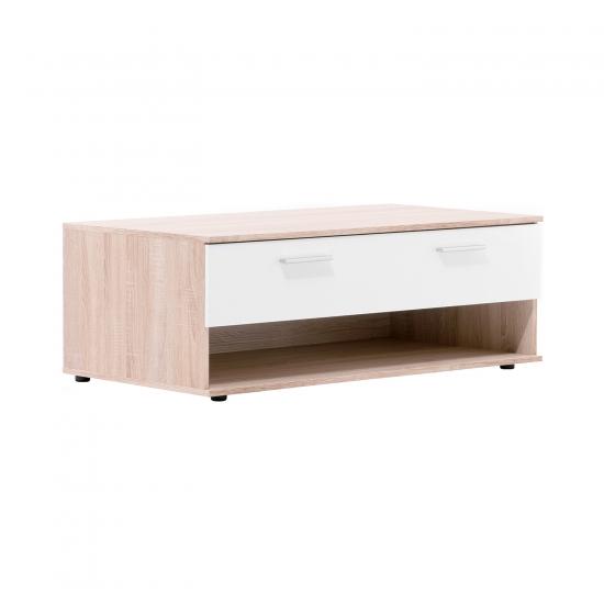 Konferenční stolek LUND 54 dub/bílá