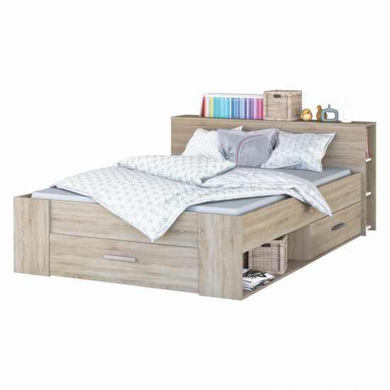 Multifunkční postel 160x200 POCKET dub