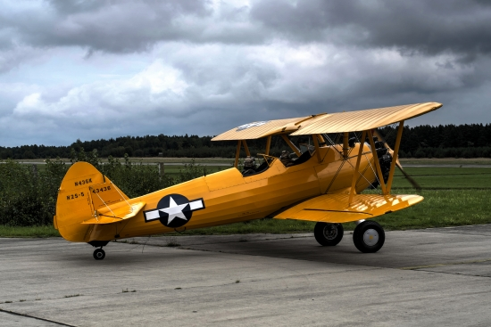 Obraz Staré letadlo, dvouplošník