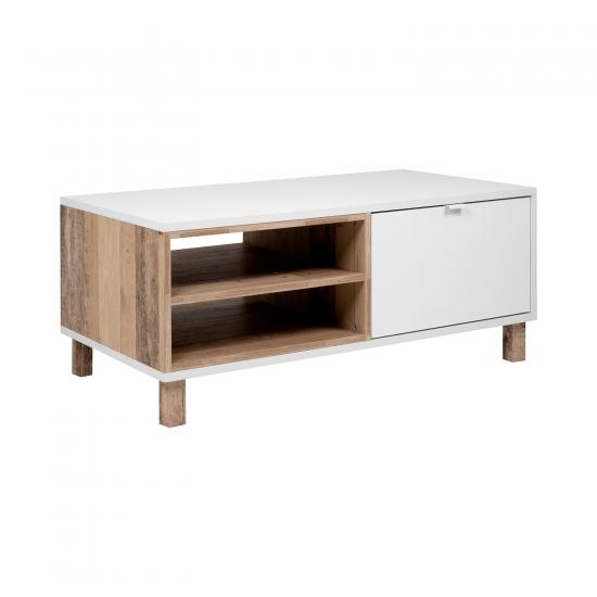 Konferenční stolek MENORCA 55A světlý antik/bílá