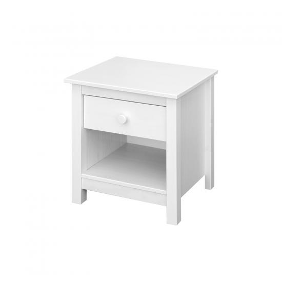 Noční stolek TORINO bílý