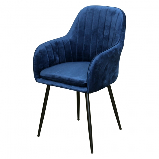 Jídelní židle DELTA modrý samet