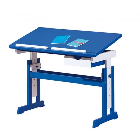 Paco - psací stůl modro/bílý