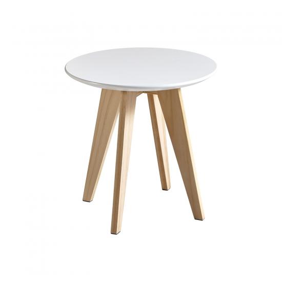 Konferenční stolek RONDO bílý