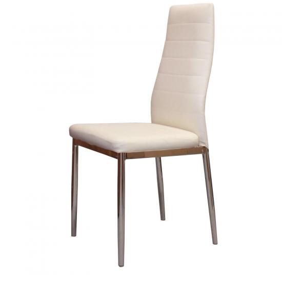 Jídelní židle MILÁNO krémově bílá