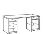 Psací stůl 847 lakovaný