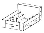 Multifunkční postel POCKET 140x200 159574 bílá