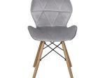 Jídelní židle ALFA šedý samet