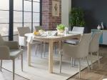 Jídelní stůl LUND dub/bílá