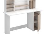 Psací stůl AMBRE dub/bílá