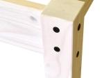Dvoulůžko CORONA bílý vosk 140x200