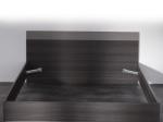Dvoulůžko 160x200 GRAPHIC tmavý dub/šedá
