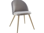 Jídelní židle LAMBDA šedý samet