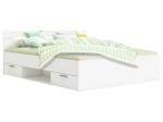 Multifunkční postel 160x200 MICHIGAN perleťově bílá