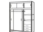 Skříň s posuvnými dveřmi 53000 dub