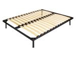 Kovová postel AMERIKA 180x200 černá