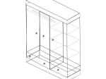 Skříň 3dveřová CORONA vosk 162818