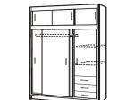 Skříň s posuvnými dveřmi 3000 bílá
