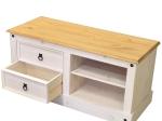 TV stolek CORONA bílý vosk 161017B