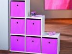 Winny - textilní box, růžový