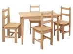 Stůl + 4 židle CORONA 2 vosk 161611