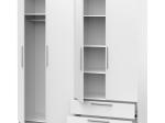 Skříň 4dveřová GLORY bílá