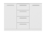 Komoda 2 dveře + 4 zásuvky SURREY bílá