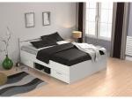 Multifunkční postel 140x200 MICHIGAN perleťově bílá