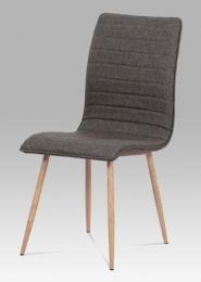 Jídelní židle coffee látka / kov (dekor dub)