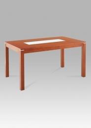 (T-4621) Jídelní stůl 150x90 cm, třešeň/sklo
