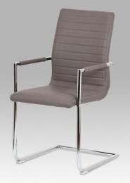 Konferenční židle coffee koženka / chrom