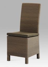 Jídelní židle, umělý ratan včetně polštáře