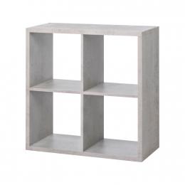 Knihovna MAX 4 kostka světlý beton