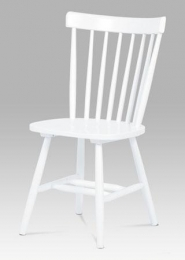 Jídelní židle bílá celodřevěná