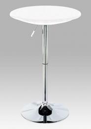 Barový stůl, bílá / chrom