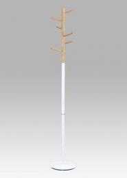 Věšák, v. 180 cm, bílá / natural