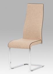 Jídelní židle chrom / látka cappuccino