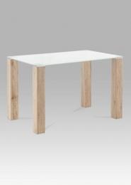 Jídelní stůl 120x75 cm, bílé sklo / san remo