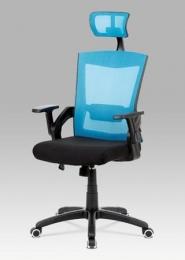 Kancelářská židle modrá s podhlavníkem