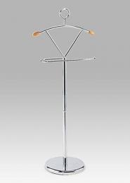 Němý sluha, lesklý chrom, v. 116 cm