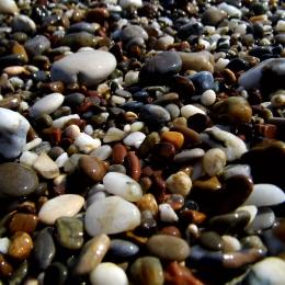 Obraz mokré kameny