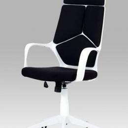 Kancelářská židle, látka černá / bílá konstrukce