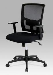 Kancelářská židle, látka černá, houpací mechnismus