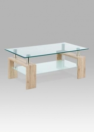 Konferenční stolek 110x60x45 cm, san remo / čiré sklo 8 mm