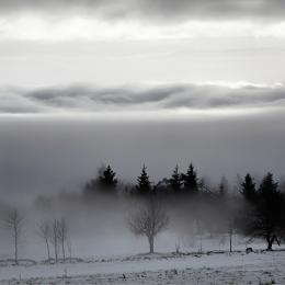 Obraz Horská krajina v mlze